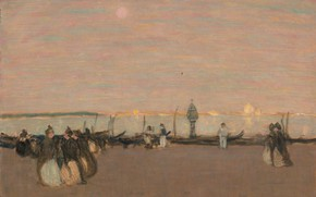 Picture picture, genre, James Wilson Morrice, James Wilson Morris, Evening Walk. Venice