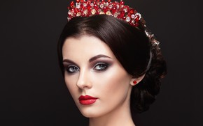 Picture girl, style, model, crown, makeup, hairstyle, decoration, Oleg Gekman