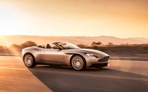Picture Aston Martin, speed, 2018, Volante, DB11