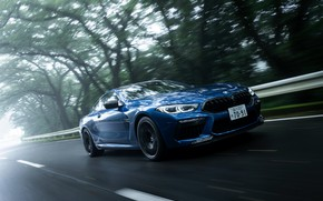 Picture blue, coupe, BMW, Coupe, 2020, BMW M8, two-door, M8, M8 Competition Coupe, M8 Coupe, F92