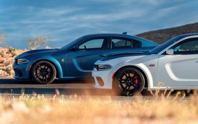 Picture Road, Dodge, Charger, Hellcat, SRT, 2020, Dodge Charger SRT, Hellcat widebody