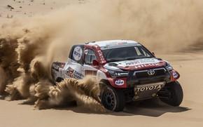Picture speed, Toyota, pickup, Hilux, 2020, Rally Dakar, 2021, Gazoo Racing