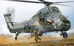 Picture UK, Westland Wessex, Wessex UH.5 Royal Navy Helicopter, Tiziano Gollini, многоцелевой вертолет