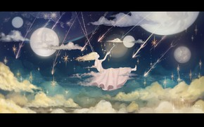 Picture the sky, girl, night, swing