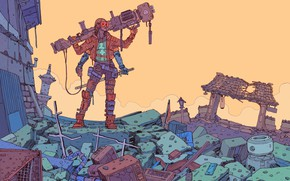 Picture Girl, Figure, Stuff, Weapons, Destruction, Fantasy, Gun, Art, Art, Robot, Robots, Mechanisms, Fiction, Cyborg, Cyberpunk, ...