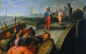 Picture oil, picture, 1613, Otto van Veen, Otto van Veen, Мирные переговоры между Клавдием Цивилисом и