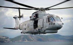 Picture Helicopter, With, The Royal Navy, Royal Navy, AgustaWestland AW101, Merlin HM.Mk 1