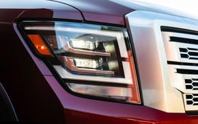 Picture headlight, Nissan, pickup, Titan, 2020, Titan XD Platinum Reserve