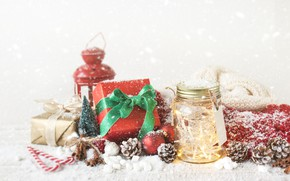 Picture winter, snow, holiday, lamp, New Year, Christmas, candy, tape, gifts, Christmas, Wood, Snow, Vintage, decor, …