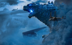 Picture Clouds, Battle, Godzilla, Grin, King Gidora, Godzilla: King of the Monsters, Godzilla 2: king of …