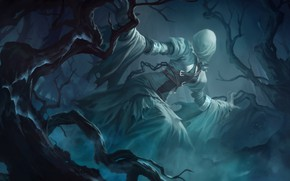 Picture forest, fog, Ghost, lady, Legends of Runeterra