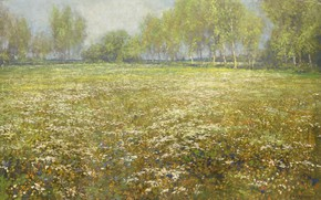 Picture oil, picture, canvas, 1912, The Case Of Sheep, Egbert's Shop, Flowering meadow