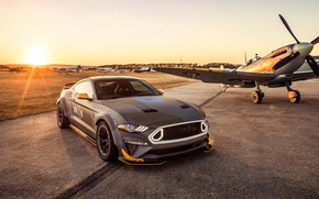 Picture sunset, Ford, RTR, 2018, Mustang GT, Eagle Squadron