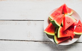 Picture summer, Watermelon, berry, Plate