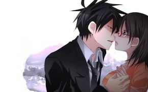 Picture girl, anime, art, guy, two, Yondemasuyo Azazel-san