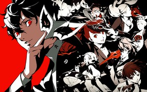 Picture mask, characters, Person 5, Persona, Persona 5 Royal