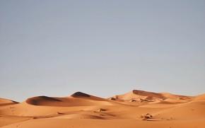 Picture sand, the sky, desert, dunes, warkany