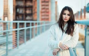 Picture girl, hair, peer, bokeh
