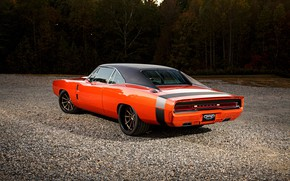 Picture Dodge, Orange, Dodge Charger, Custom, Vehicle