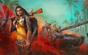 Picture Girl, Look, Smoke, Weapons, Tank, Ubisoft, Backpack, Characters, Equipment, Far Cry 6