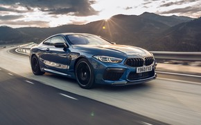 Picture sunset, speed, BMW, Coupe, Competition, UK-Spec, 2019, BMW M8, F92
