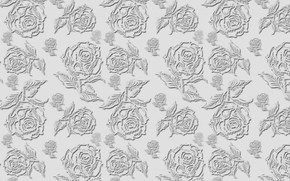 Picture grey, background, roses, texture, flower, roses