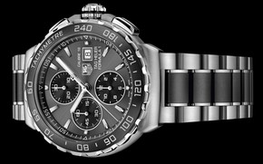 Picture time, arrows, watch, strap, watch, chronometer, Automatic Chronograph, TAG Heuer Formula 1 Automatic Calibre 16