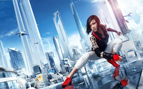 Picture the game, girl, game, Mirror's Edge, action, adventure, Catalyst, Mirror's Edge Catalyst, ciyy