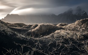 Picture nature, fog, Iceland, Auster-Skaftafellssysla