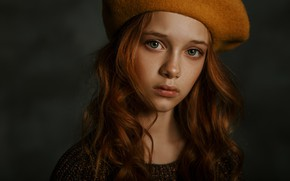 Picture girl, redhead, curls, Hizhnyakova Alexander