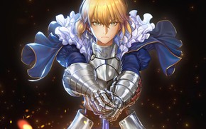 Picture look, knight, the saber, Fate stay night, Fate / Stay Night