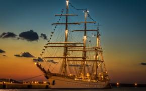 Picture SHIP, PIER, PIERCE, MAST, SAILS
