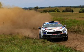Picture dust, rally, primer, 2018, Abarth, 124 Rally