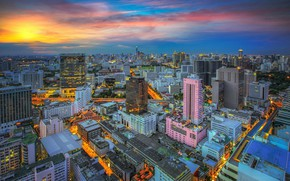 Picture the city, building, Thailand, Bangkok, Thailand, the view from the top, Bangkok
