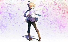 Picture girl, background, the saber, Fate stay night, Fate / Stay Night