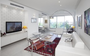 Picture design, style, interior, living room, dining room, Contemporary apartment, by TSLIL Designs