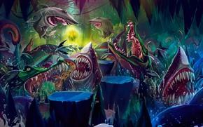 Picture Color, Figure, Style, Shark, Teeth, Mouth, Shark, Crocodile, Art, Art, Style, Color, Illustration, Crocodile, Sharks, …