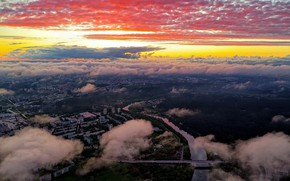 Picture Lithuania, Vilnius, sunset