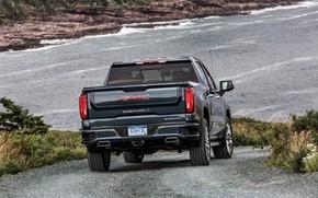 Picture the descent, back, pickup, GMC, Denali, Sierra, 2019
