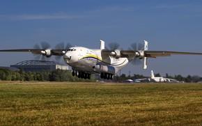 Picture the plane, Ukraine, landing, the airfield, transport, Antonov, heavy, Antey, An-22