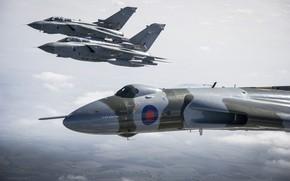 Picture flight, aircraft, Panavia, RAF, Tornado, Avro, Vulcan