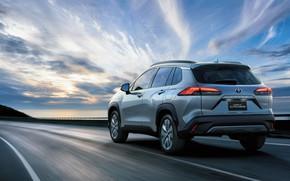 Picture road, movement, Toyota, Hybrid, Corolla, Cross, TH-spec, 2020