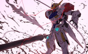 Picture robot, warrior, art