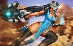 Picture Girl, Figure, The game, Girl, Art, Art, Overwatch, Symmetra, Game Art, Symmetra, Satya Vaswani, by ...