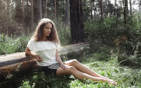 Wallpaper forest, girl, hair, Zlobin Awesome, Vita