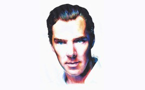 Picture figure, portrait, Benedict Cumberbatch, Benedict Cumberbatch, colored pencils