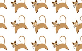 Picture background, texture, Wallpaper, Cat, Pattern, Seamless
