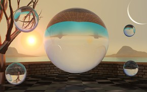 Picture background, balls, sphere