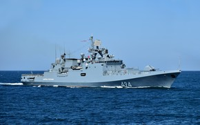 Picture frigate, The black sea, the project 11356