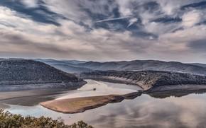 Picture Germany, lake, reservoir, Hesse, Edersee, Waldeck
